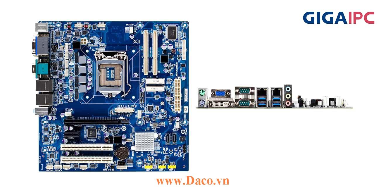 uATX-RYZEN Main máy tính công nghiệp AMD® Raven Ridge Ryzen2 Processor, 2xDDR4 RAM, PCIe Slot, 2xGbE LAN, 6xCOM, 10xUSB, 4xSata 6Gb/s