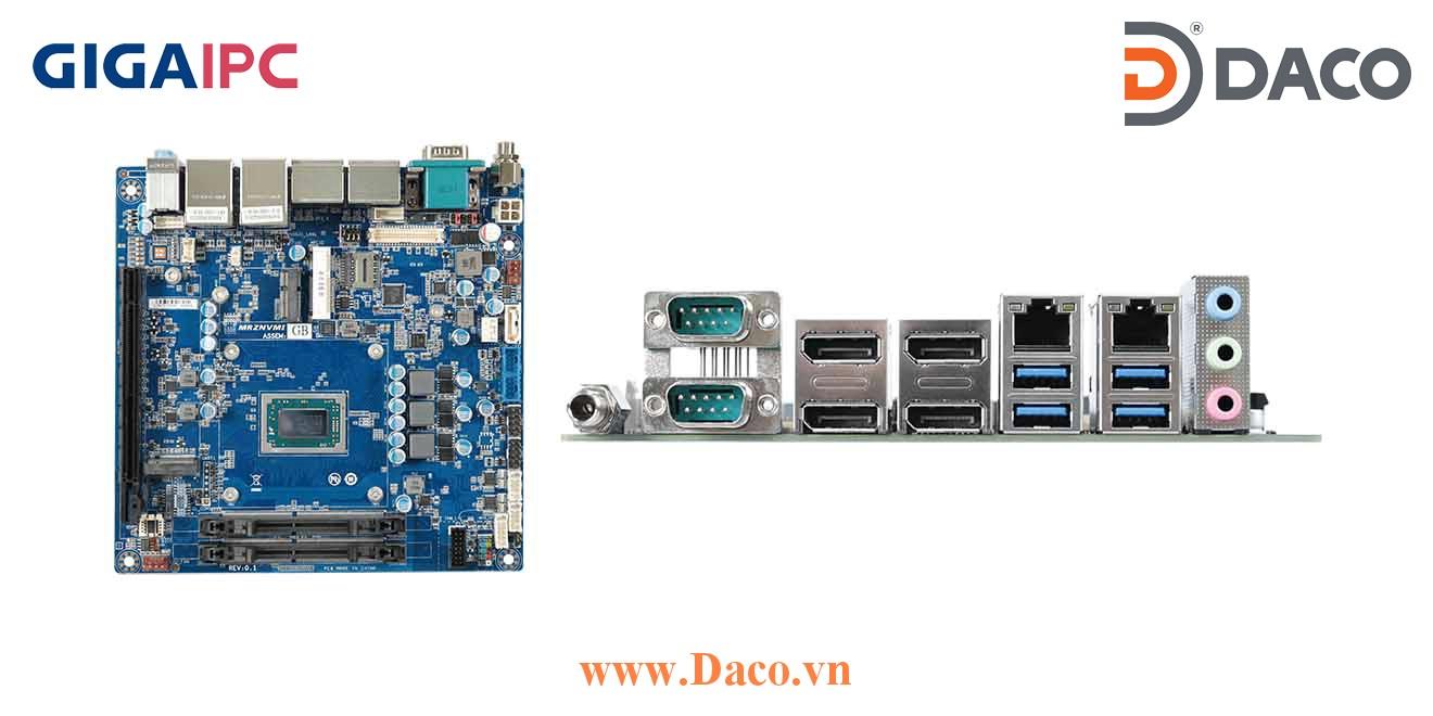mITX-1605A Main máy tính công nghiệp AMD® RYZEN™ V1605B Embedded Processor, 2xDDR4 RAM, PCIe Slot, 2xGbE LAN, , 10xUSB, 1xSata 6Gb/s