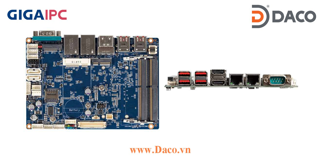 QBiP-E3940A Main máy tính công nghiệp Intel® E3940 Processor, 2xDDR3L RAM, PCIe Slot, 2xGbE LAN, 4xCOM, 6xUSB, 1xSata 6Gb/s