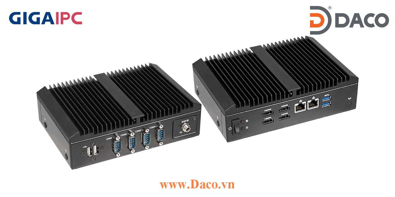 QBiX-Pro-AMDA1605H-A1 Máy tính công nghiệp GigaIPC AMD® RYZEN™ V1605B Embedded Processor