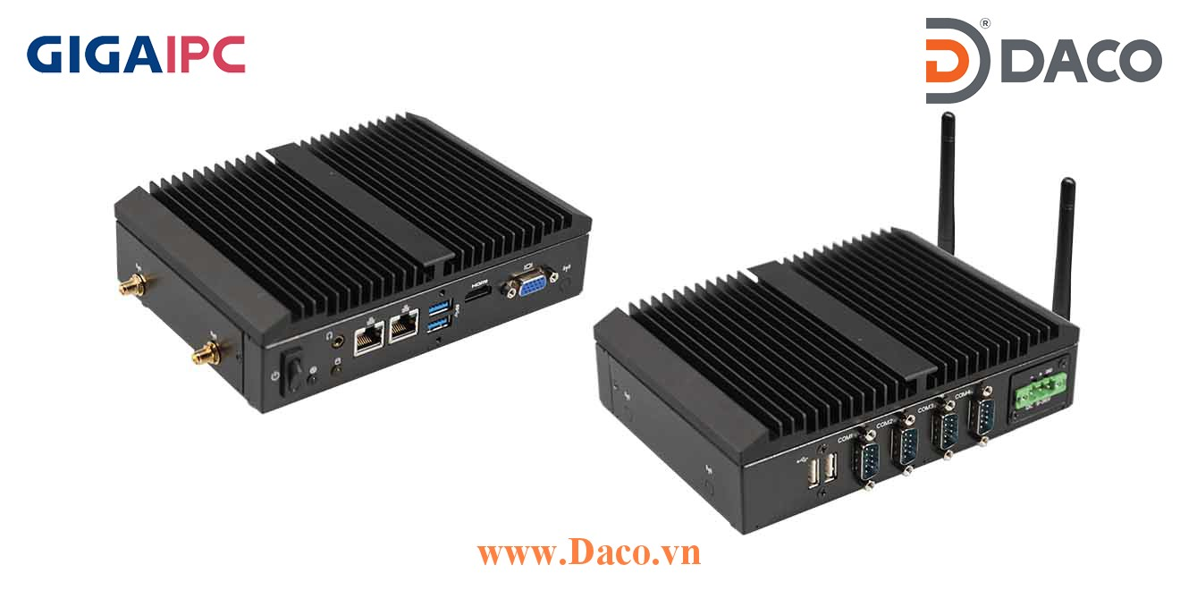 QBiX-Pro-APLB4200H-A1 Máy tính công nghiệp GigaIPC Intel® Pentium® N4200 Processor