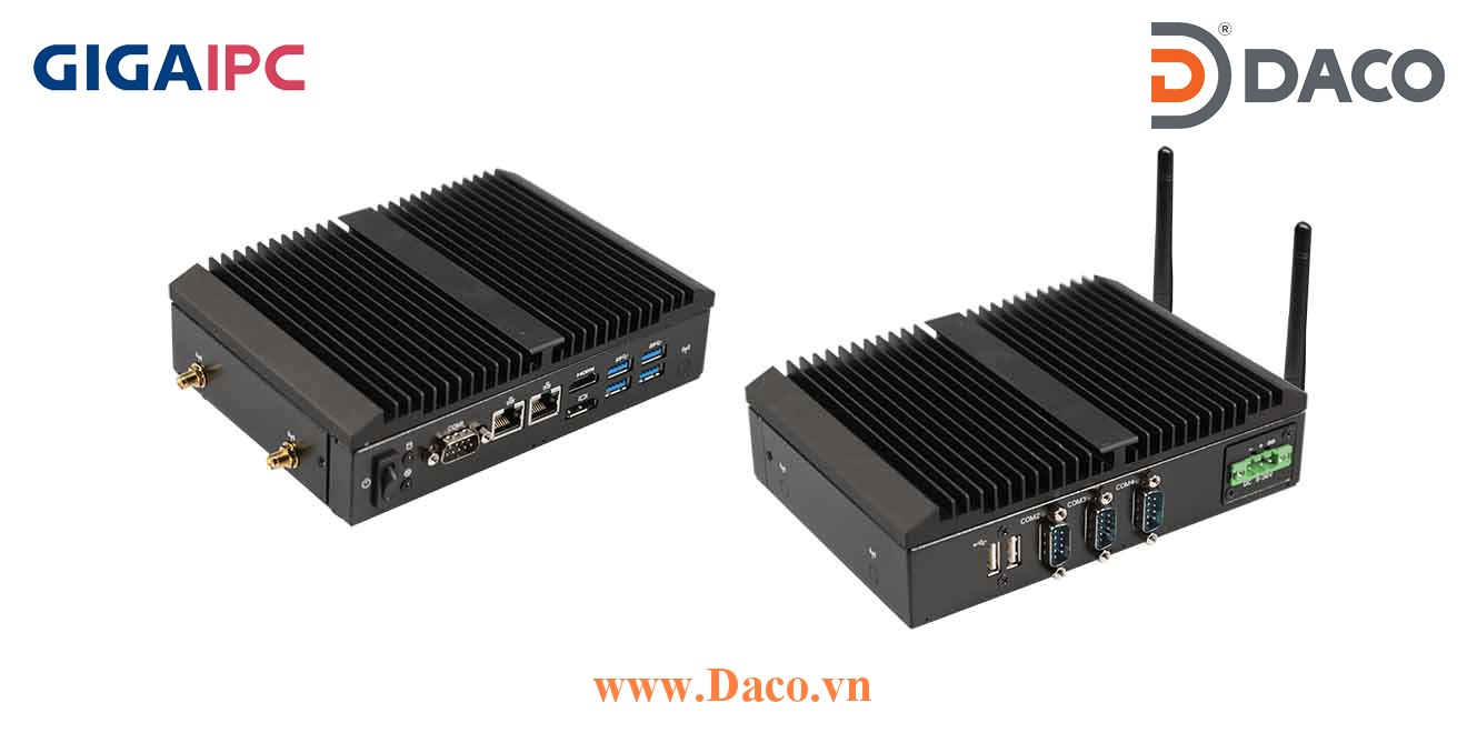 QBiX-Pro-KBLB7100H-A1 Máy tính công nghiệp GigaIPC Intel® Core™ i3-7100U Processor