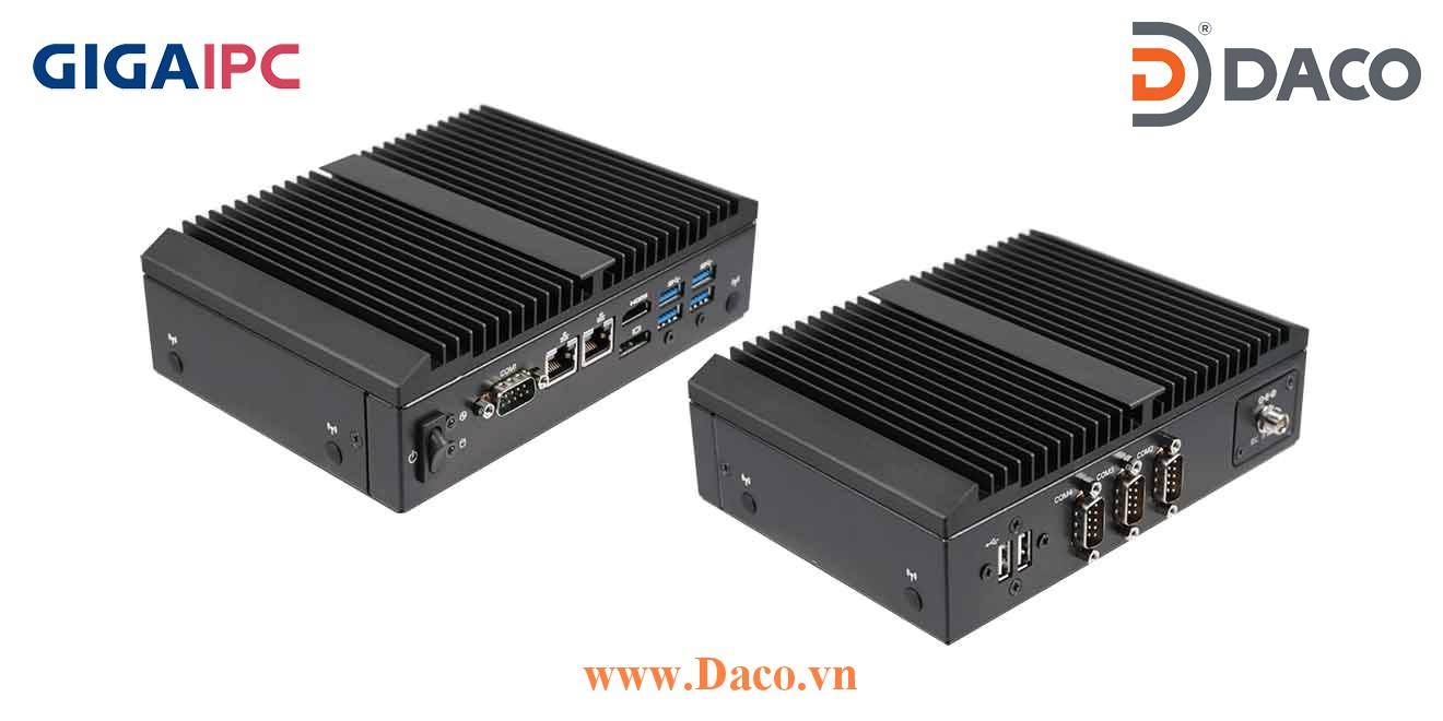 QBiX-Pro-KBLB7100H-B1 Máy tính công nghiệp GigaIPC Intel® Core™ i3-7100U Processor