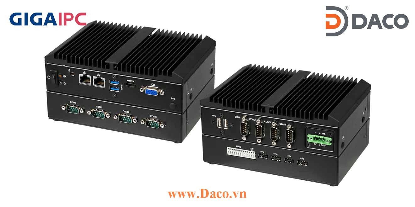 QBiX2-Pro-APLB4200H-A1 Máy tính công nghiệp GigaIPC Intel® Pentium® N4200 Processor