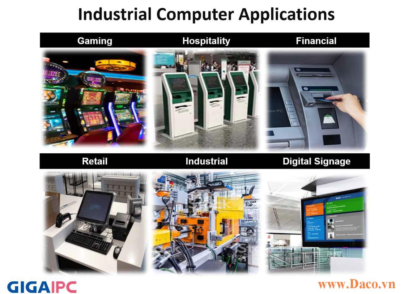 Đặc điểm, Giải pháp, Ứng dụng Hệ thống sản phẩm máy tính công nghiệp GigaIPC