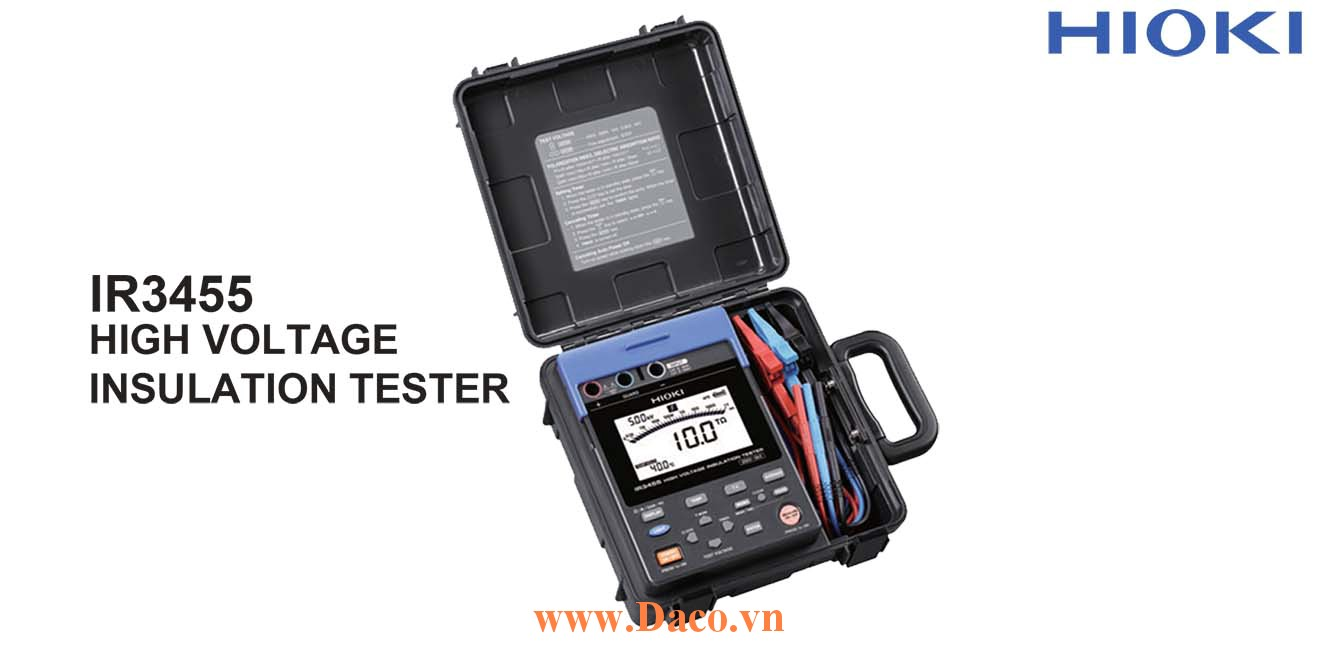 IR3455 Máy đo điện trở cách ly số Hioki Japan 250V đến 5kV/10TΩ, USB