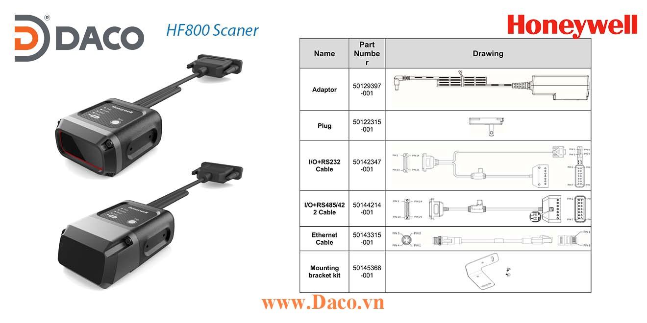 HF800_Accessory Phụ kiện cho Đầu đọc mã vạch Công nghiệp 1D/2D DPM Honeywell