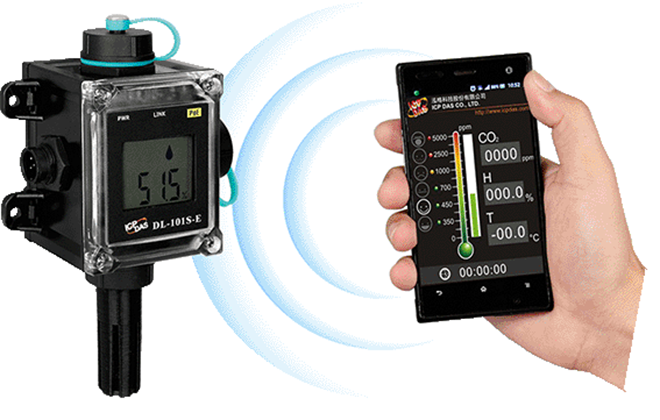 DL-100S-E Bộ ghi dữ liệu cảm biến nhiệt độ, độ ẩm ICP DAS-Truy cap tu xa