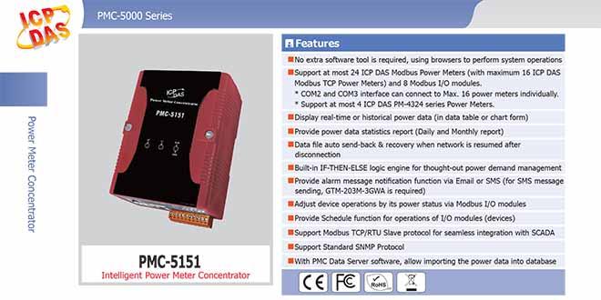 PMC-5151 Bộ quản lý tập trung đồng hồ đo điện
