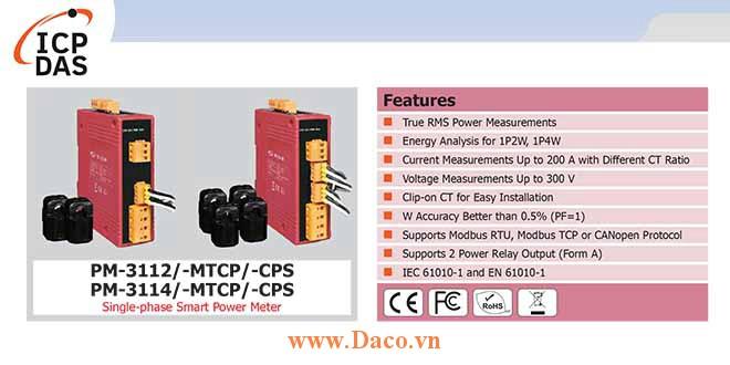 PM-3112/PM-3114 Đồng hồ đo điện thông minh 1 pha