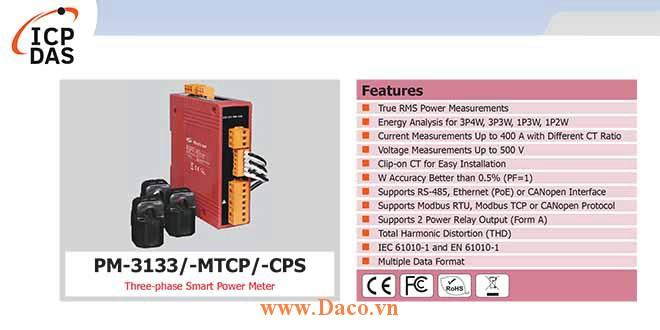 PM-3133 Đồng hồ đo điện thông minh 3 pha ICP DAS