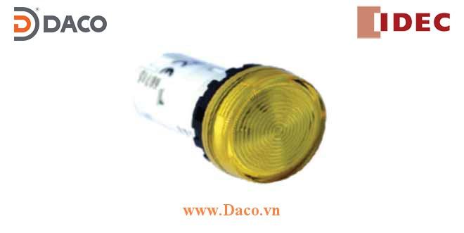 YW1P-1UQ Đèn báo phẳng IDEC Unibody, không biến thế, IP 65 ngoài mặt tủ