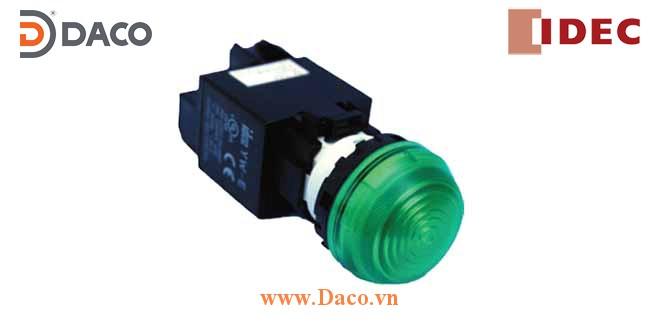YW1P-2EH Đèn báo vòm IDEC có biến thế, IP 65 ngoài mặt tủ