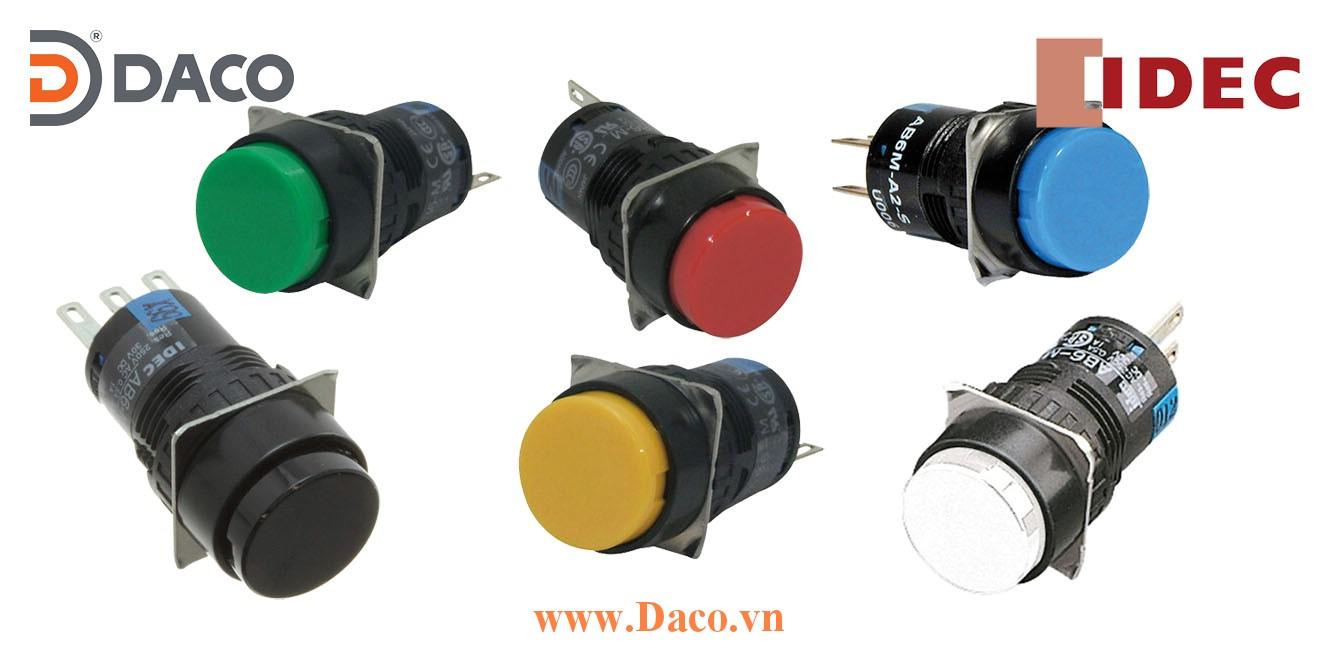 AB6M Nút nhấn IDEC không đèn Tròn Φ16