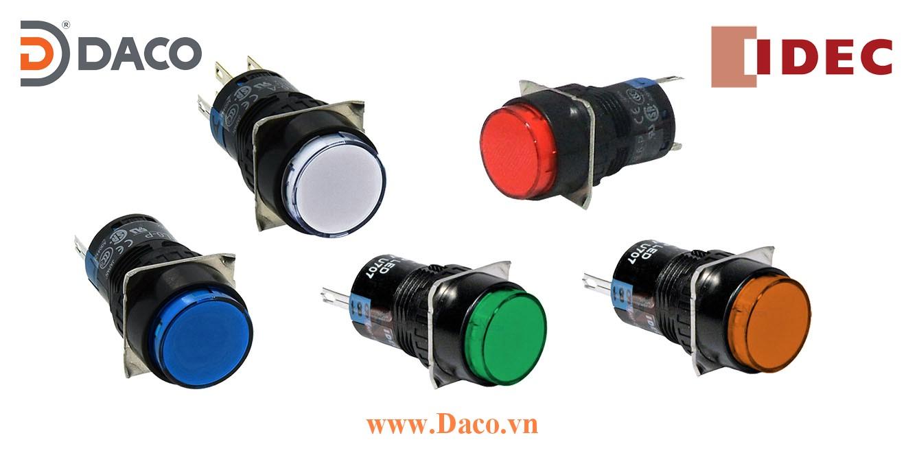 AL6M Nút nhấn IDEC có đèn Tròn LED Φ16, 24VDC