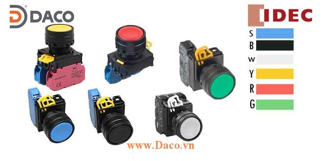 YW1B-M1E Nút nhấn nhả không đèn, loại phẳng Φ22 IDEC YW1B-M1E