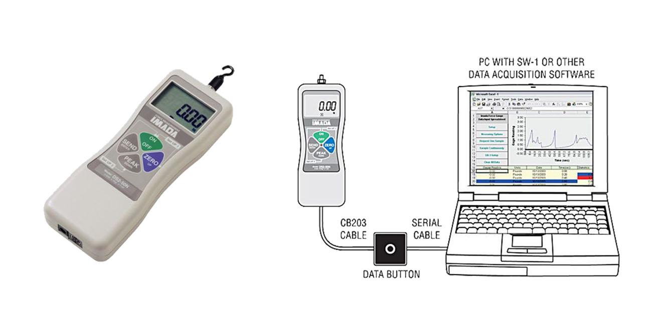 DS2 Máy đo lực kỹ thuật số Imada Mỹ 2N~1000N