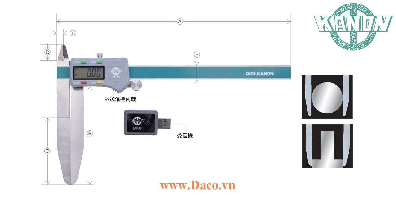 E-LSMFW Thước cặp không dây hàm dài Kanon Nakamura Chiều dài đo 150~300 mm