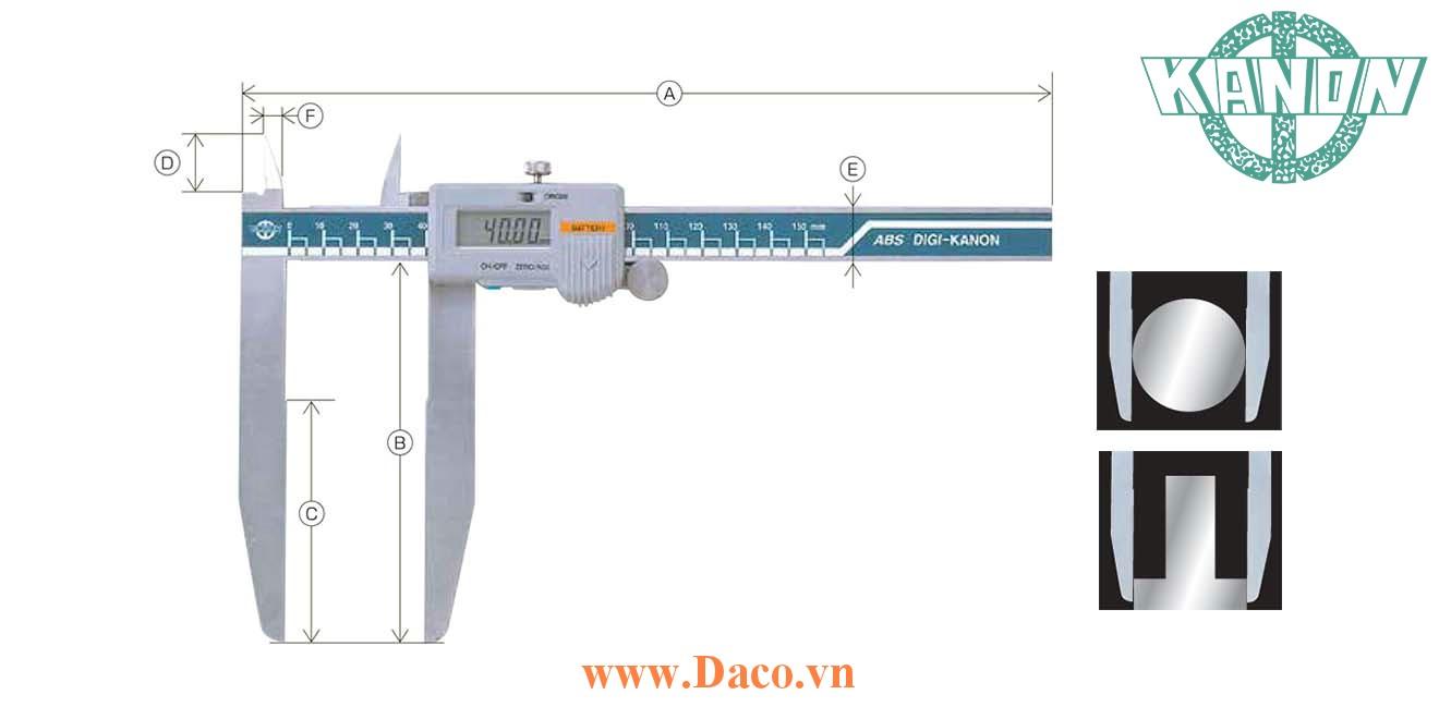 E-LSM Thước cặp hàm dài kỹ thuật số Kanon Nakamura Chiều dài đo 150~600mm