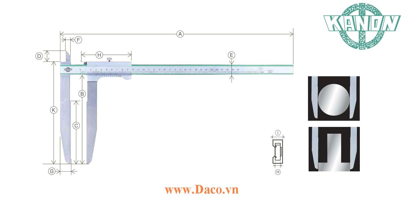 LSM Thước cặp hàm dài Kanon Nakamura Chiều dài đo 150~600 mm