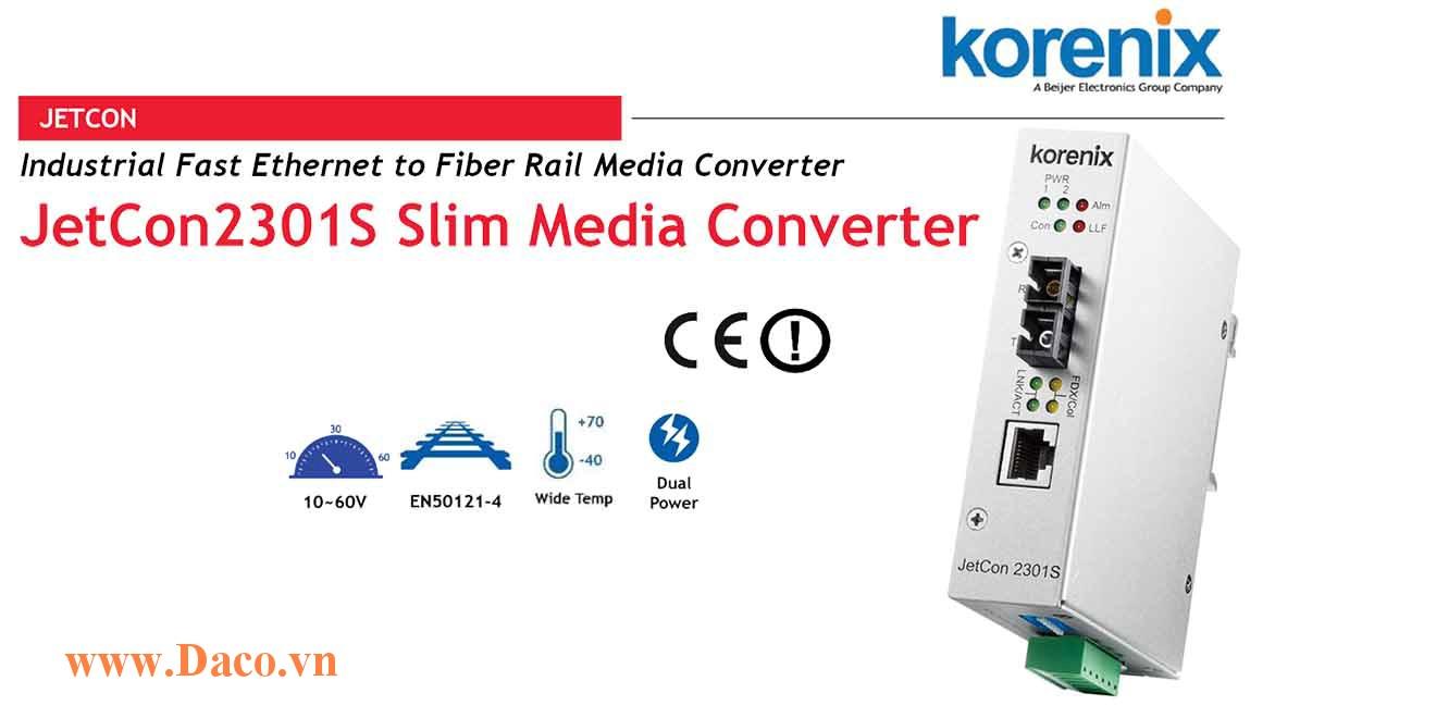 JetCon 2301S Bộ chuyển đổi truyền thông từ Fast Ethernet sang cáp sợi quang 1 FE Port