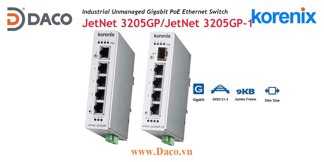 JetWave 3205GP Korenix Switch PoE công nghiệp  4 PoE cổng LAN
