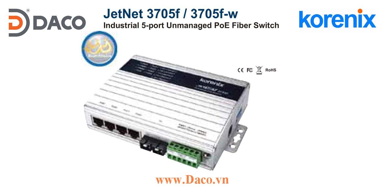 JetNet 3705f Korenix Industrial 5-port Power Over Ethernet Switch