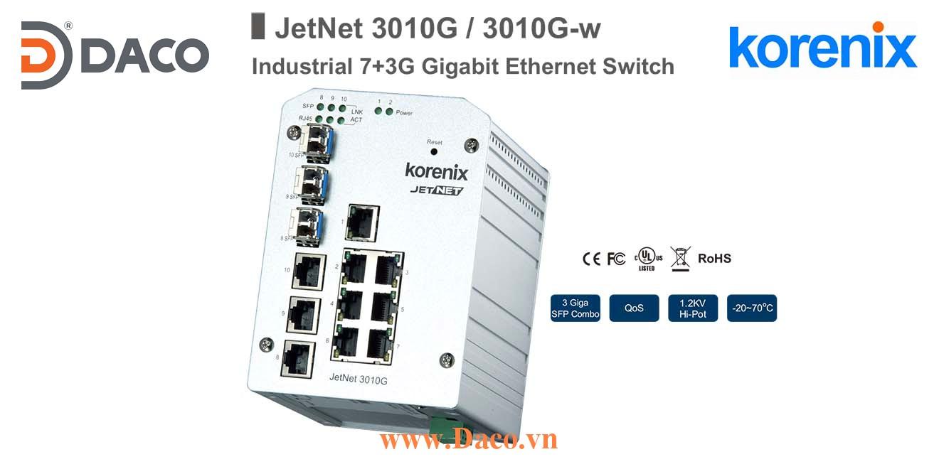 JetNet 3010G Korenix Unmanaged Switch công nghiệp Gigabit Ethernet 10 cổng LAN