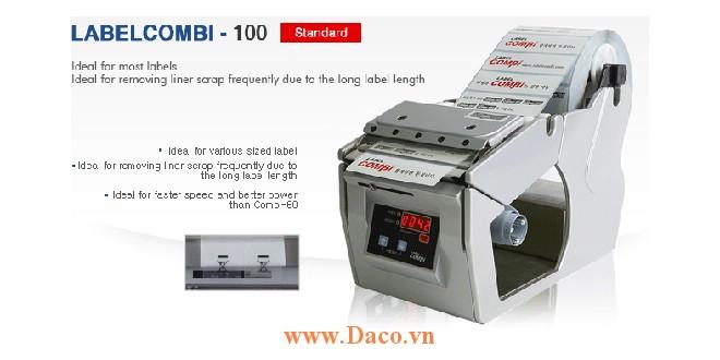 LabelCombi-100 Máy bóc tem nhãn, máy tách tem nhãn tự động kích thước tem nhãn 5~100mm
