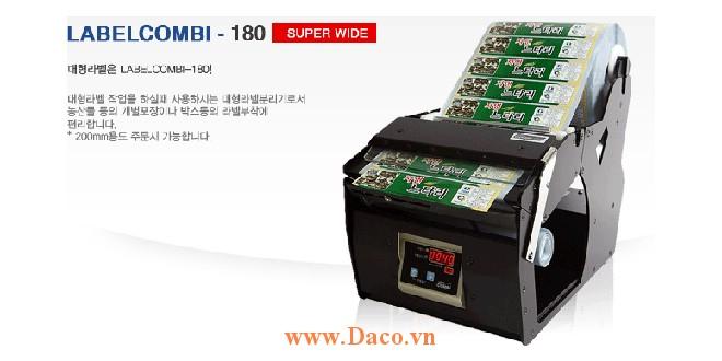 LabelCombi-180 Máy bóc tem nhãn, máy tách tem nhãn tự động kích thước tem nhãn 5~180mm