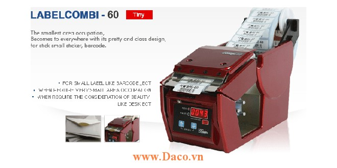 LabelCombi-60 Máy bóc tem nhãn, máy tách tem nhãn tự động kích thước tem nhãn 5~60mm