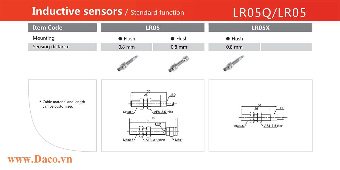 LR05-LR05X Cảm biến tiệm cận 0.8-1.5 mm Lanbao M5