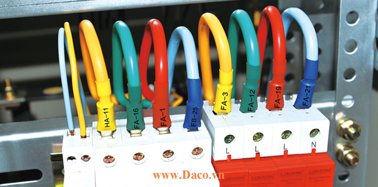 LM-ST52W Băng ống in co nhiệt cho máy in ống lồng đầu cốt LK330 Lmark 5.2mmx4m màu Vàng