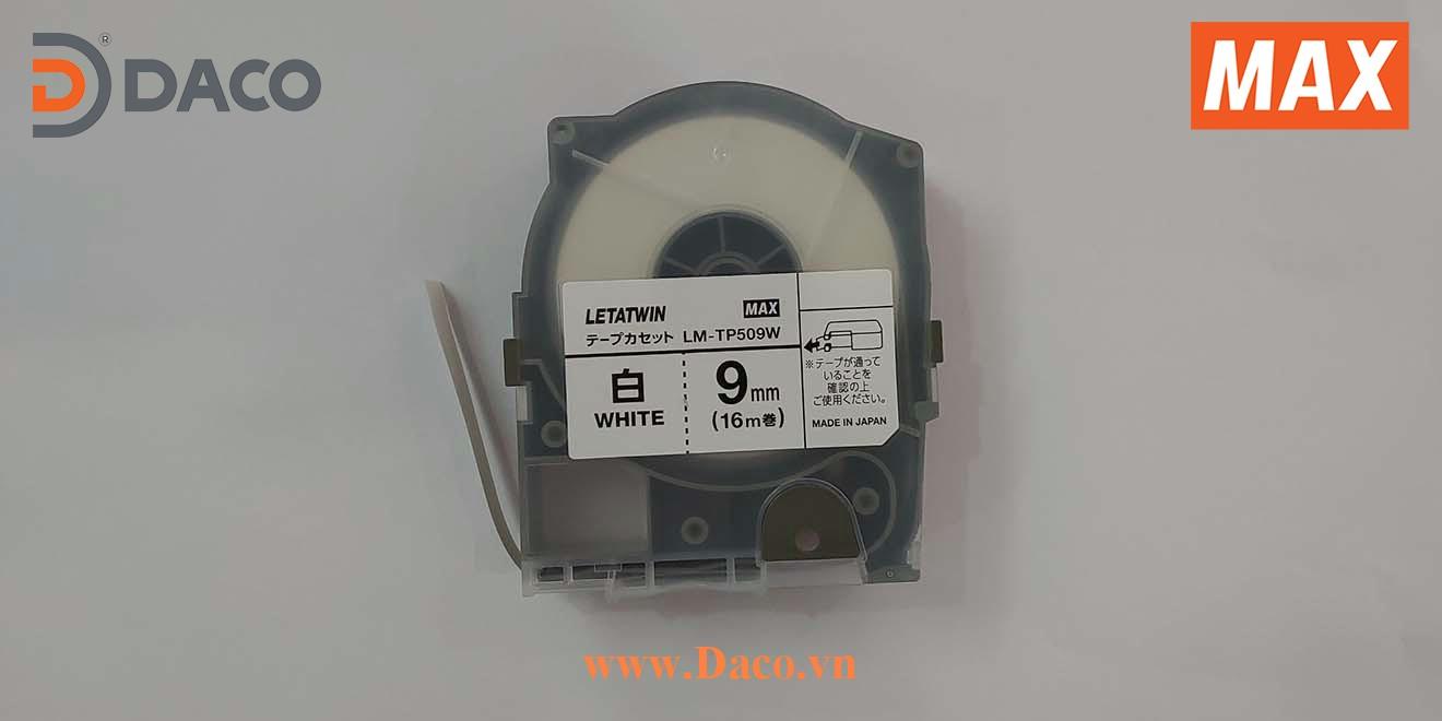 LM-TP509W-16m Hình ảnh thực tế Băng nhãn in ống lồng đầu cốt luồn dây điện MAX Letatwin LM550A-LM550E