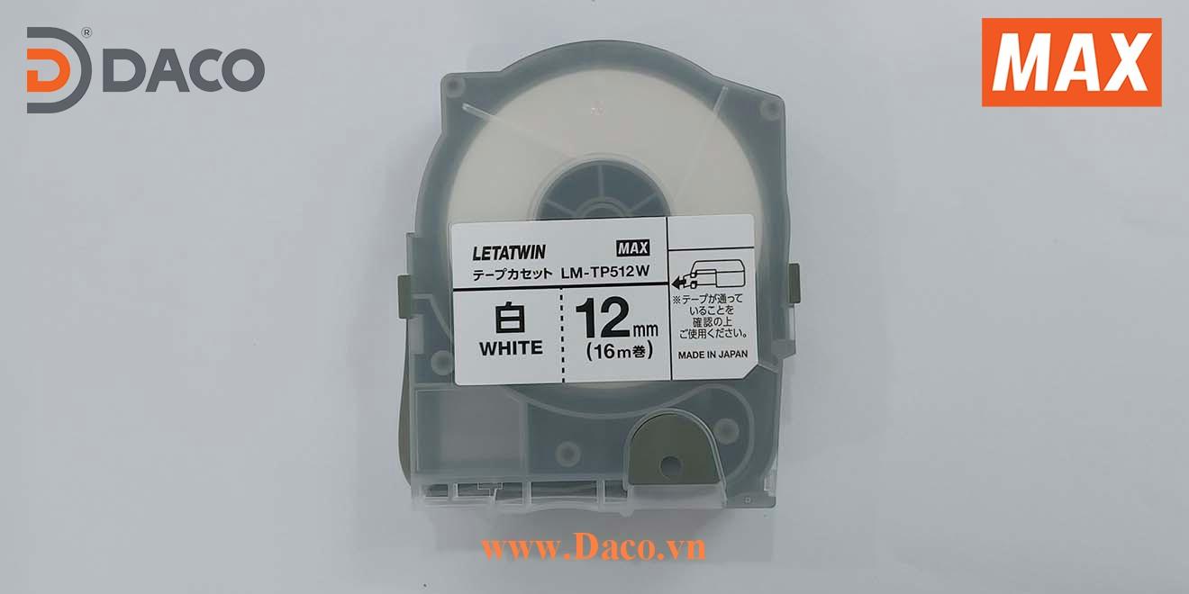 LM-TP512W-16m Hình ảnh thực tế Băng nhãn in ống lồng đầu cốt luồn dây điện MAX Letatwin LM550A-LM550E