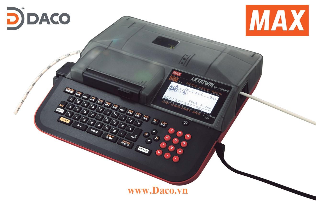 Giới thiệu & Trải nghiệm máy in Ống lồng đầu cốt MAX Letatwin LM550A Kết nối máy tính PC