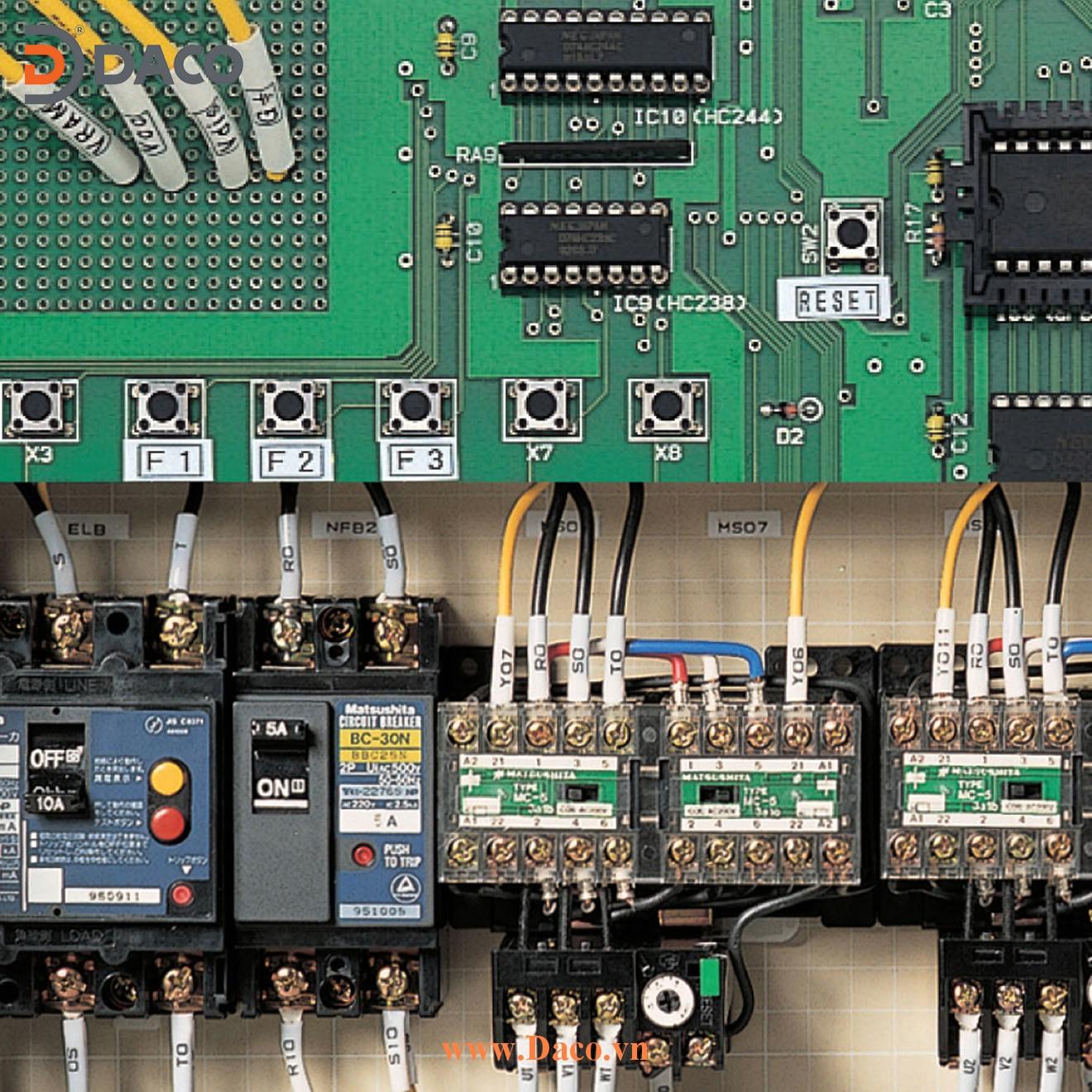 LM550A Máy in ống lồng đầu cốt MAX Kết nối PC, Bàn phím Qwerty