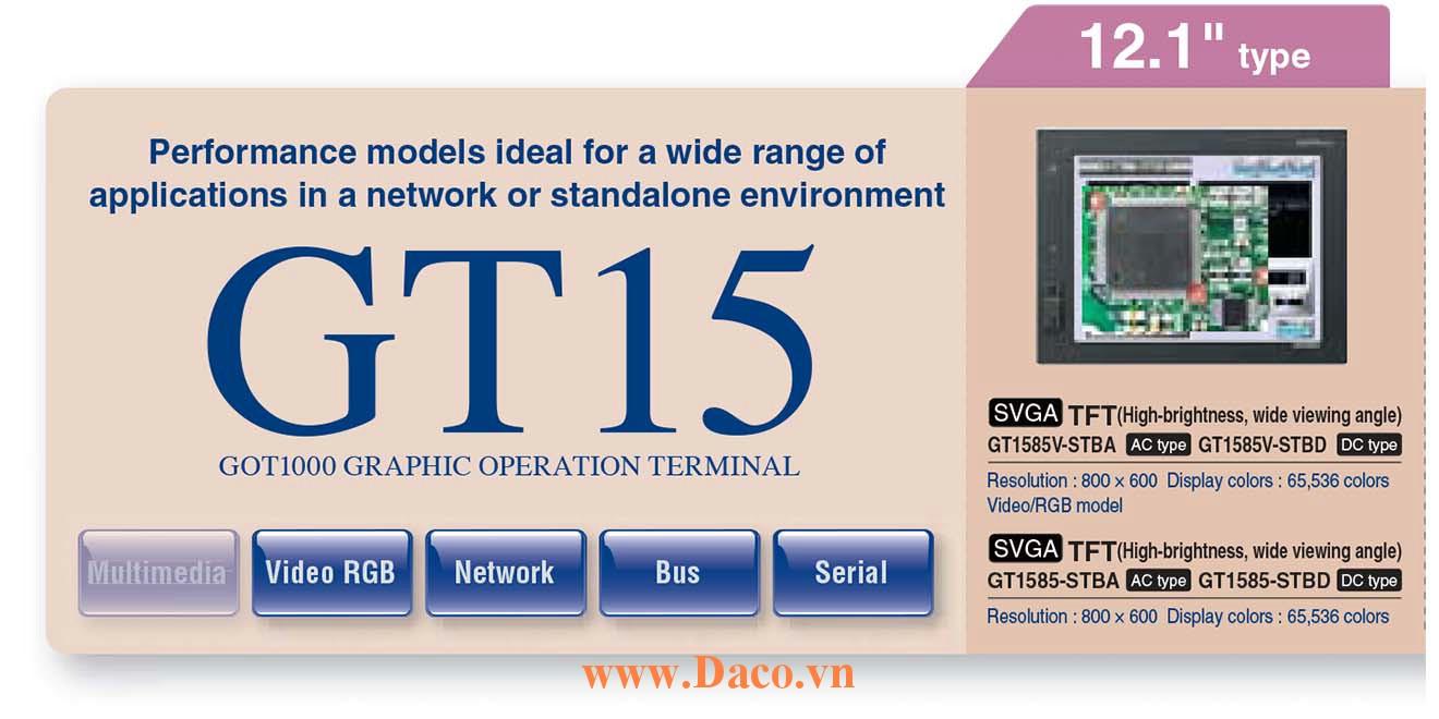 Màn hình cảm ứng Mitsubishi GT1585 HMI 12.1 Inch
