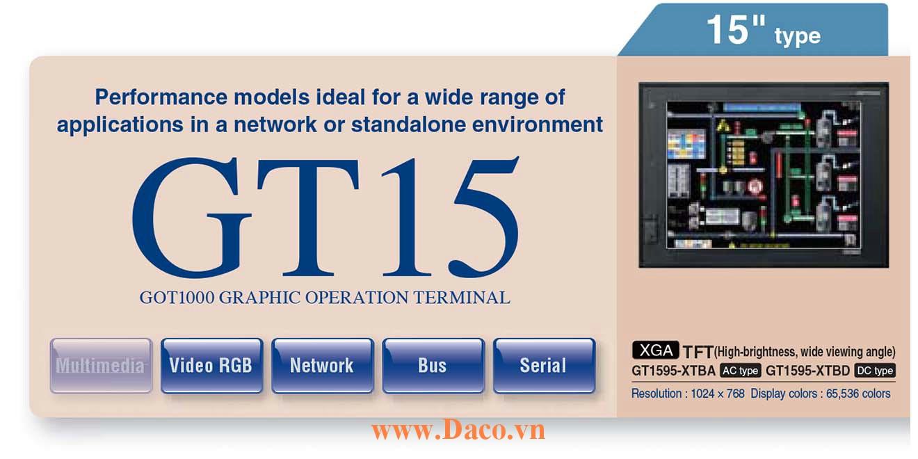 Màn hình cảm ứng Mitsubishi GT1595 HMI 15 Inch