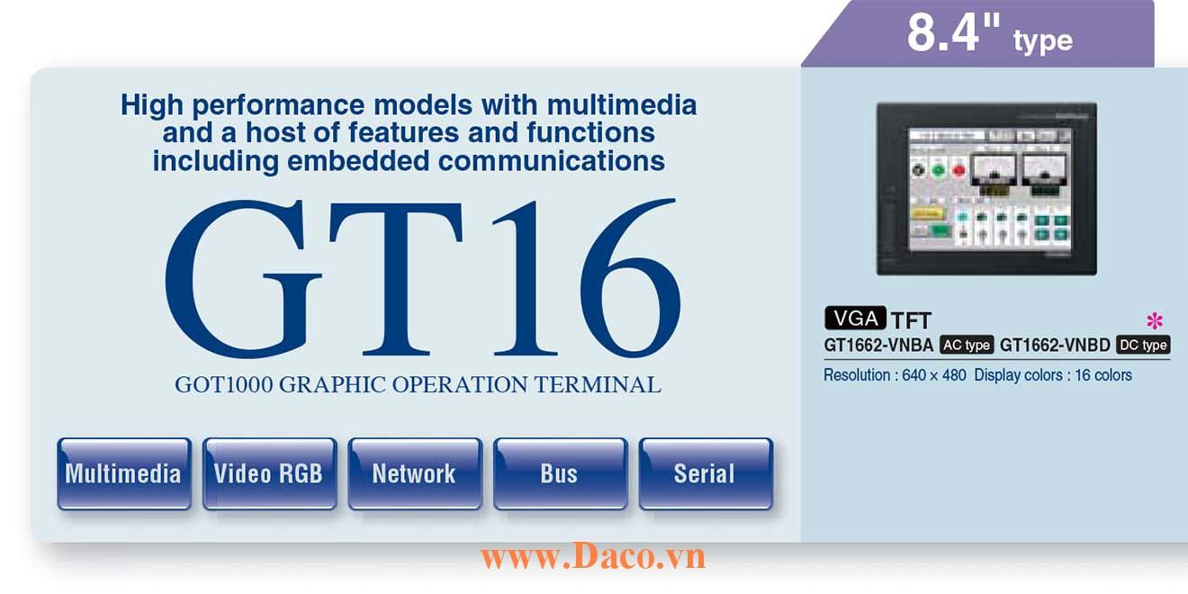 Màn hình cảm ứng Mitsubishi GT1662M HMI 8.4 Inch