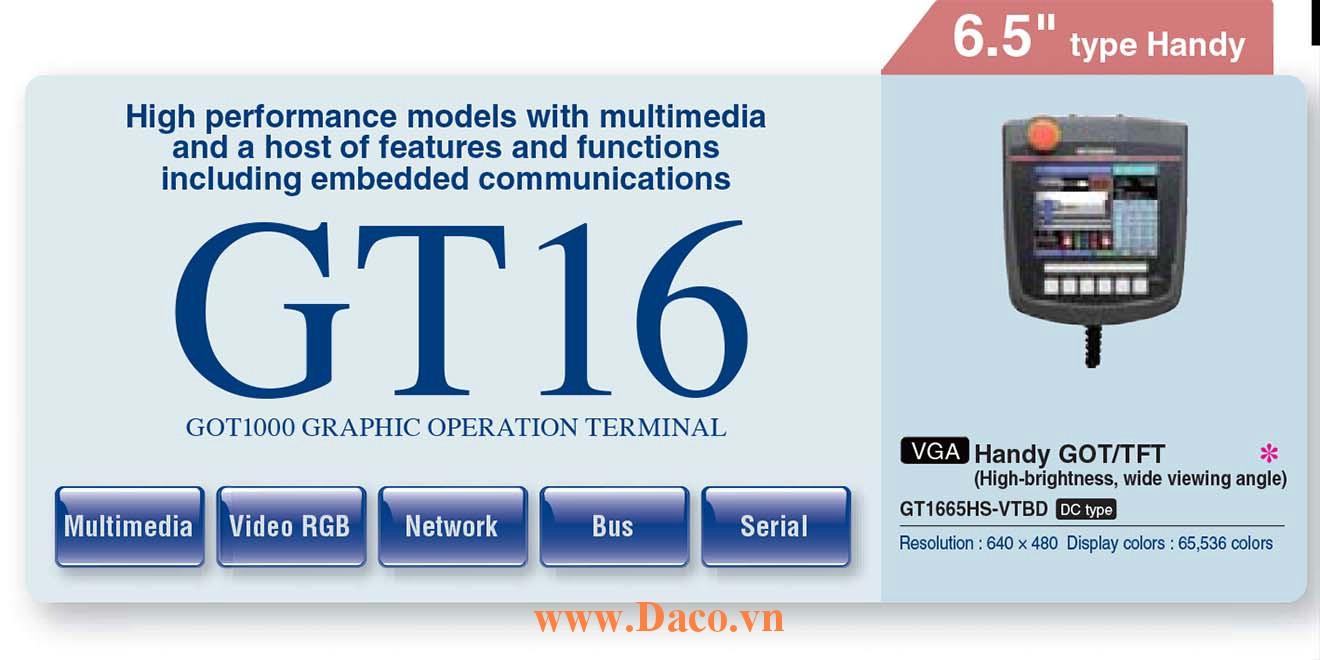 Màn hình cảm ứng Mitsubishi GT1665HS HMI 6.5 Inch