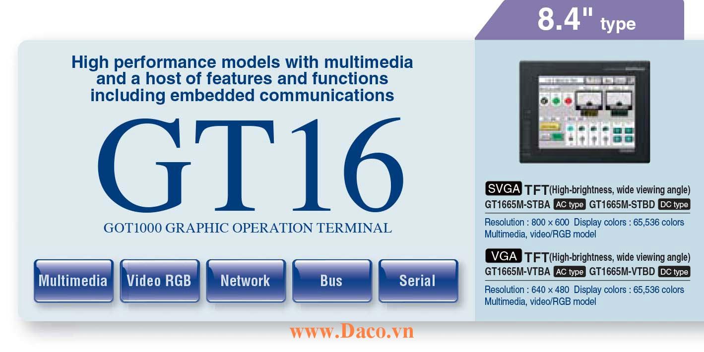 Màn hình cảm ứng Mitsubishi GT1665M HMI 8.4 Inch
