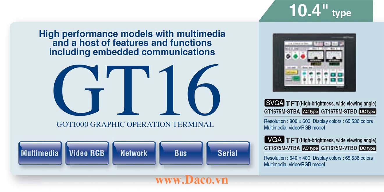 Màn hình cảm ứng Mitsubishi GT167M HMI 10.4 Inch
