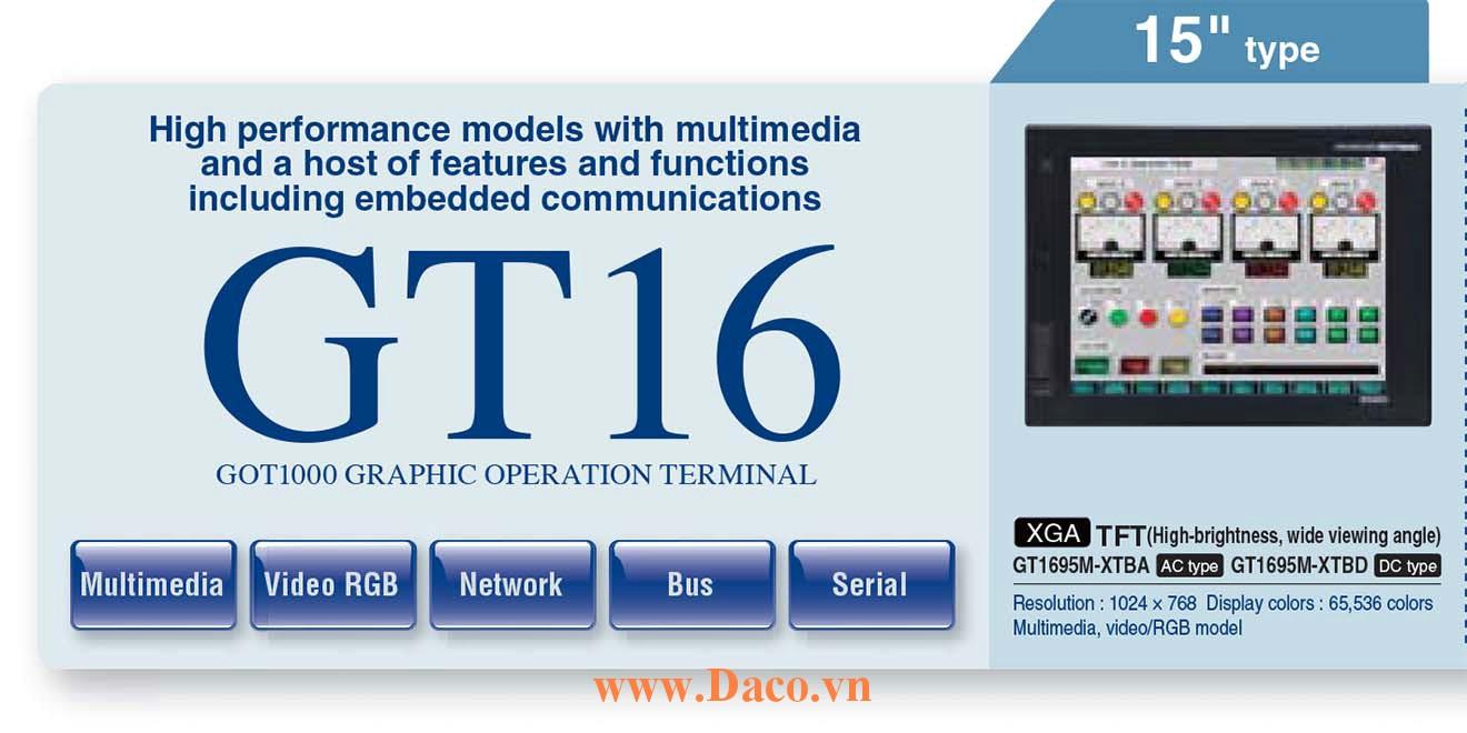 Màn hình cảm ứng Mitsubishi GT1695 HMI 15 Inch