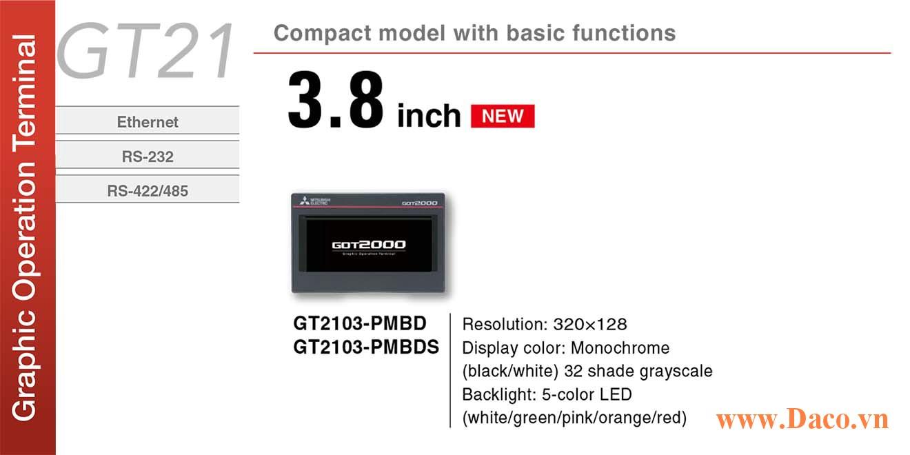 Màn hình cảm ứng Mitsubishi GT2103 HMI 3.8 Inch