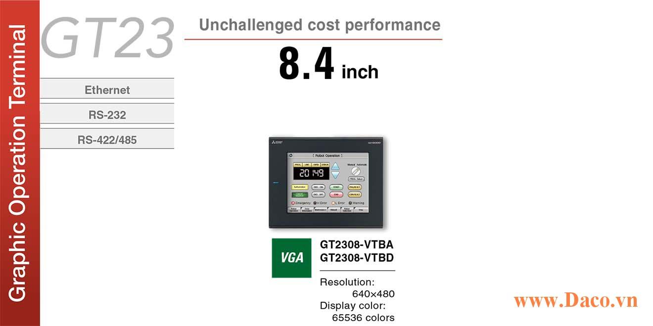 Màn hình cảm ứng Mitsubishi GT2308 HMI 8.4 Inch