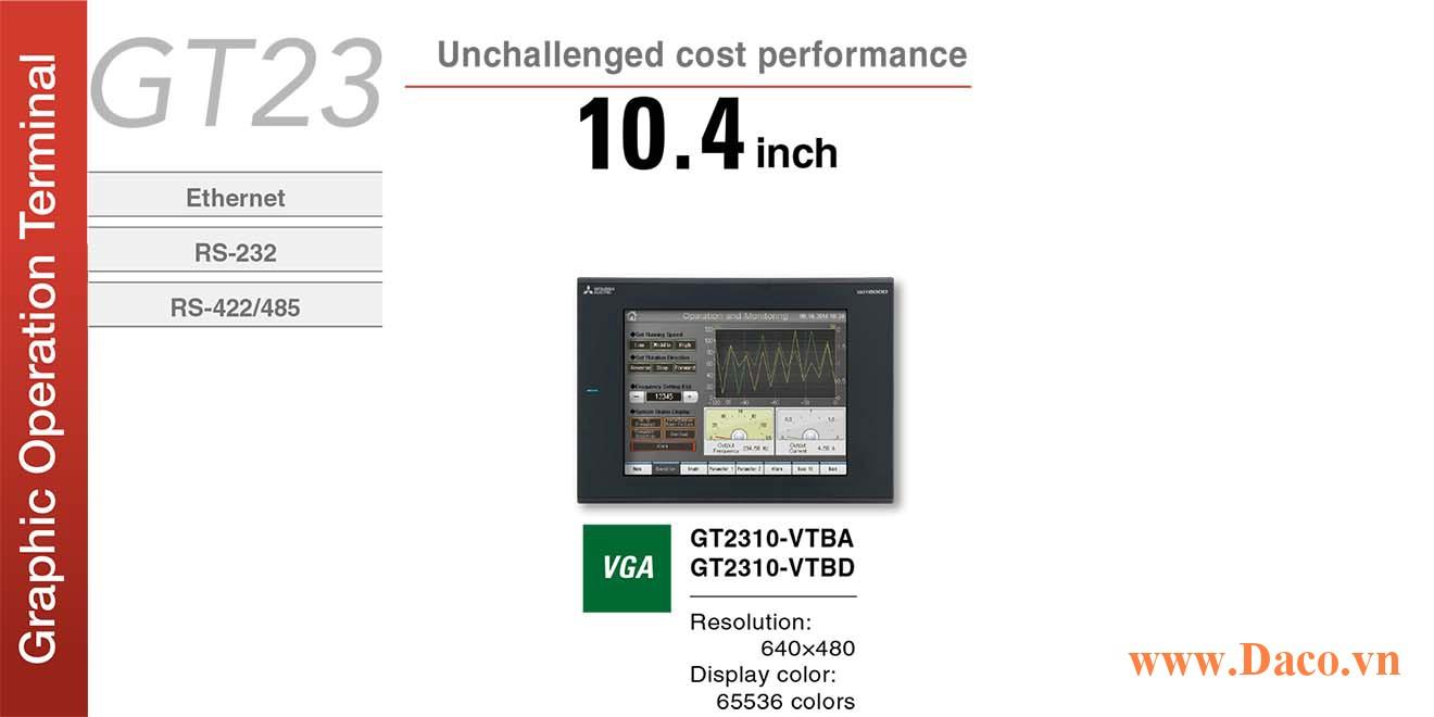 Màn hình cảm ứng Mitsubishi GT2310 HMI 10.4 Inch