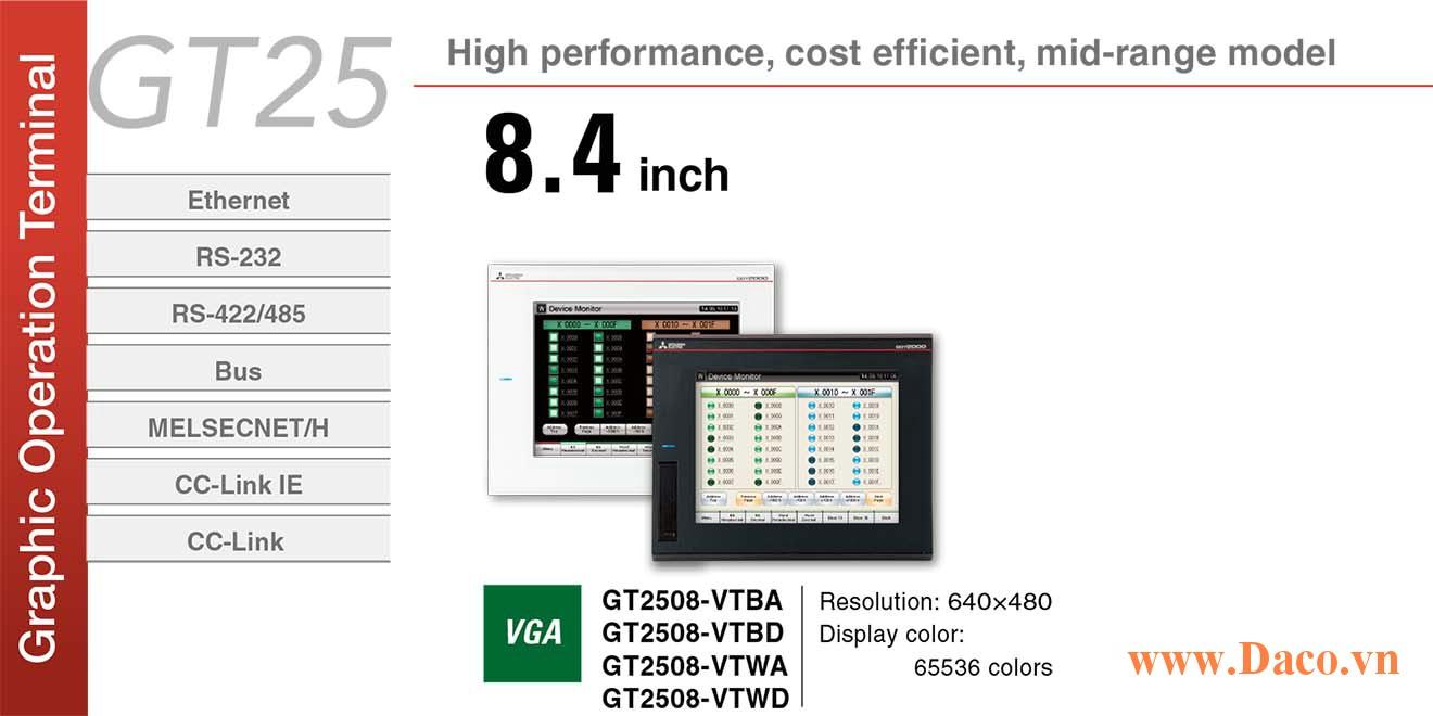 Màn hình cảm ứng Mitsubishi GT2508 HMI 8.4 Inch