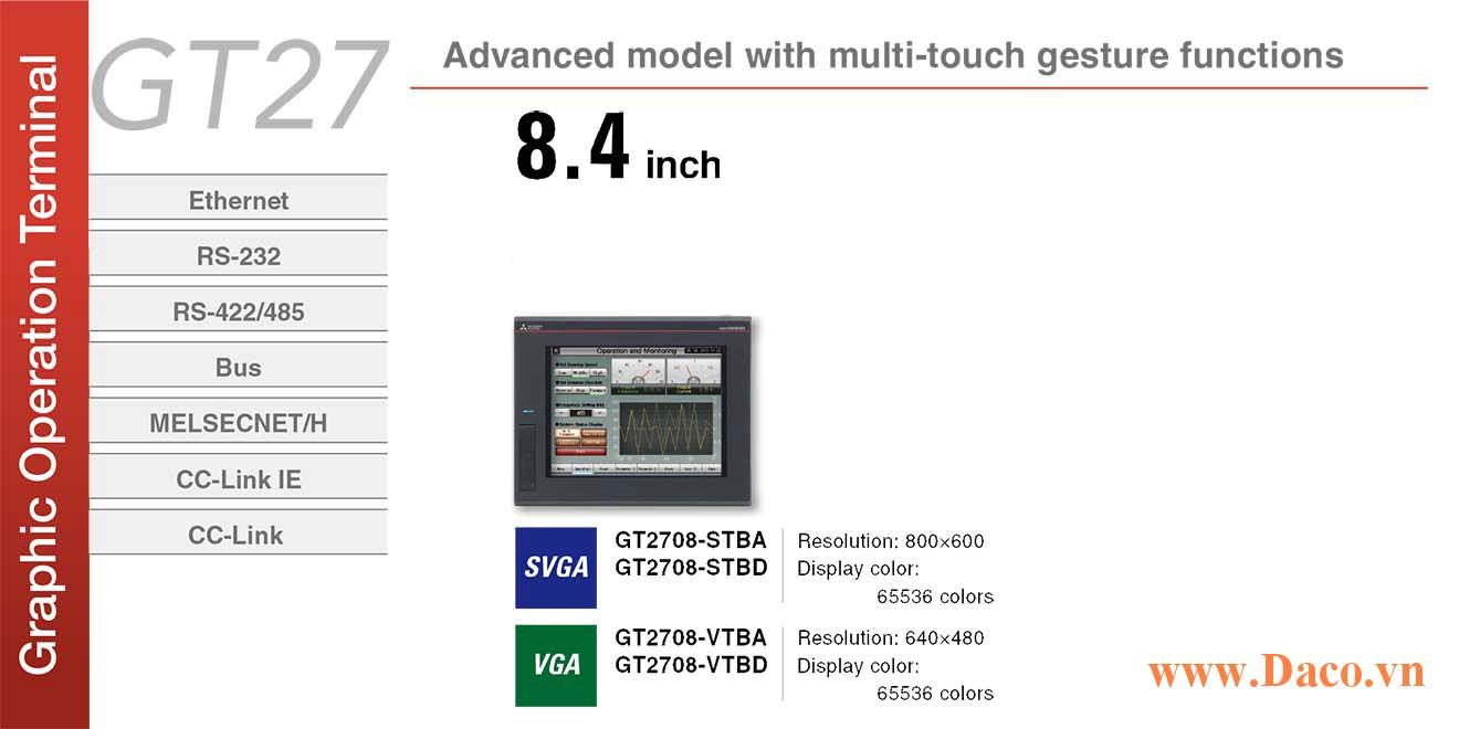 Màn hình cảm ứng Mitsubishi GT2708 HMI 8.4 Inch