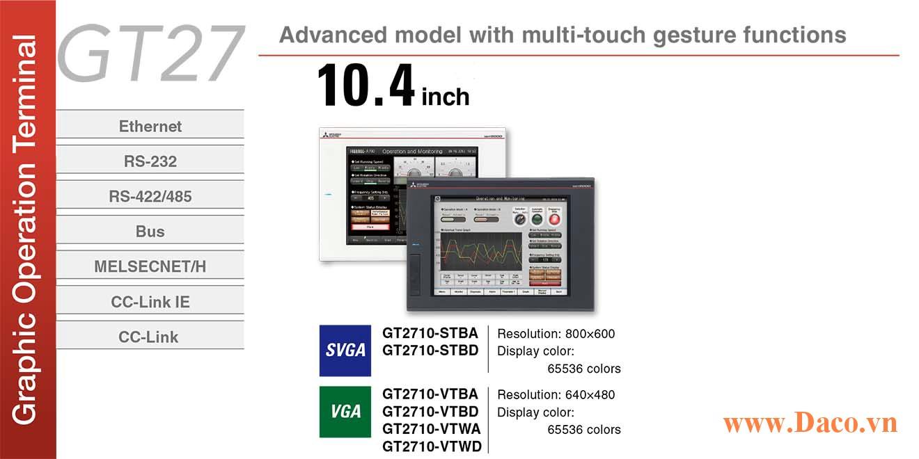 Màn hình cảm ứng Mitsubishi GT2710 HMI 10.4 Inch